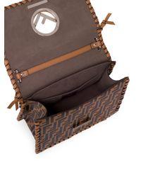 Fendi - Brown Kan I Whipstitched Logo Shoulder Bag - Lyst