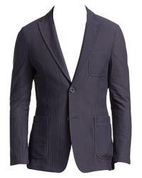 Giorgio Armani - Gray Men's Mesh Blazer - Grey for Men - Lyst
