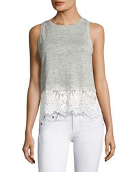 Generation Love - Gray Frances Regular-fit Lace Top - Lyst