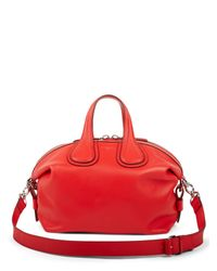 Givenchy - Red Nightingale Small Leather Satchel - Lyst