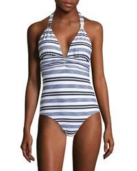 Heidi Klein - Blue Marthas Vineyard One-piece Striped Swimsuit - Lyst