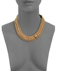 House of Lavande - Metallic Batari Triple-chain Collar Necklace - Lyst