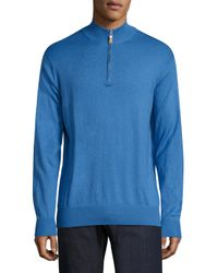 Peter Millar - Blue Crown Soft Heathered Pullover for Men - Lyst