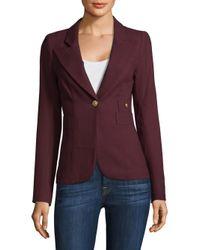 Smythe Purple Duchess Wool Blazer