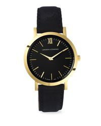 Larsson & Jennings - Multicolor Lugano 33mm Yellow Gold & Leather Watch - Lyst