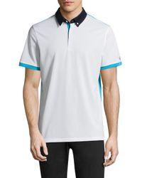 AG Green Label - White Deuce Short-sleeve Polo for Men - Lyst