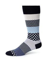Paul Smith - Gray Dot & Stripe Dress Socks for Men - Lyst