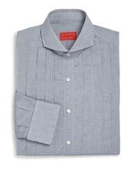 Isaia - Blue Slim-fit Riva Tuxedo Shirt for Men - Lyst