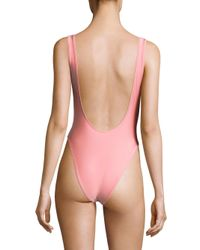Knowlita - Pink Ibiza Or Nowhere One-piece Swimsuit - Lyst