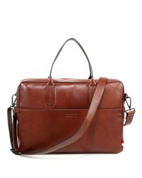 Uri Minkoff - Brown Fulton Briefcase for Men - Lyst