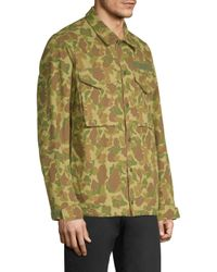 Rag & Bone - Green Camouflage Flight Shirt Jacket for Men - Lyst