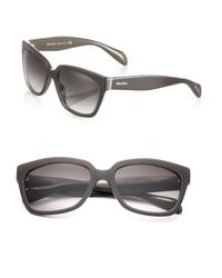 Prada - Brown Chunky 56mm Square Sunglasses - Lyst