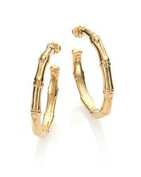 John Hardy - Metallic Bamboo 18k Yellow Gold Small Hoop Earrings/1.55 - Lyst