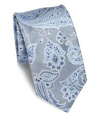 Brioni - Blue Large Paisley Printed Silk Tie for Men - Lyst