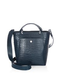 Elizabeth and James - Blue Eloise Petit Scaled Leather Tote - Lyst