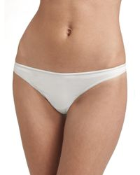 Cosabella - White Talco Low-rise Thong - Lyst