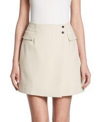 Armani Jeans - White Faux-wrap Skirt - Lyst