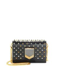 Jimmy Choo Black Embellished Convertible Clutch