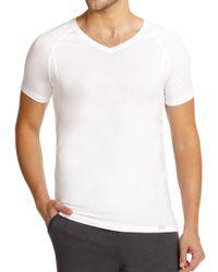 Hanro   White Solid V-neck Tee for Men   Lyst