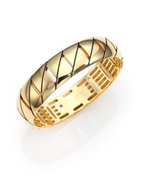 Roberto Coin | Metallic Appassionata 18k Yellow Gold Bangle Bracelet | Lyst