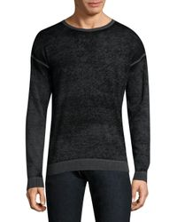 John Varvatos - Gray Knitted Cotton Sweater for Men - Lyst