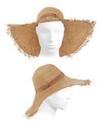 Inverni - Natural Iris Straw Hat - Lyst
