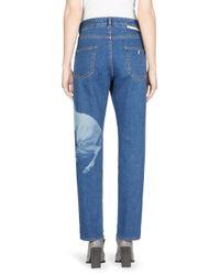 Stella McCartney Blue Horse Patch Boyfriend Jeans