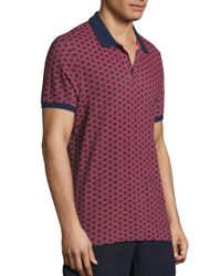 Vilebrequin - Blue Anchor Printed Polo for Men - Lyst