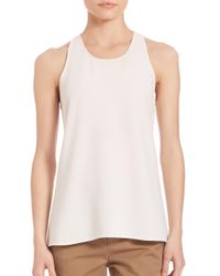 Vince - White Bonded Laser-cut Tank Top - Lyst