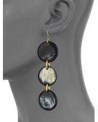 Nest - Multicolor Horn Drop Earrings - Lyst
