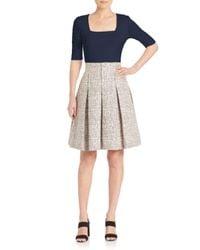 Akris Punto | Gray Cross-stitch Jacquard A-line Skirt | Lyst