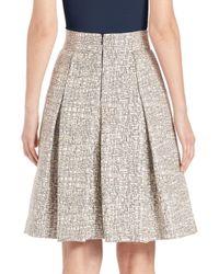 Akris Punto - Gray Cross-stitch Jacquard A-line Skirt - Lyst