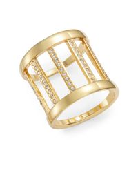 Vita Fede | Metallic Classic Sparkle Barrel Ring/goldtone | Lyst