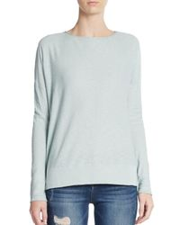 VINCE | Blue Slub Cotton Sweater | Lyst
