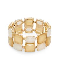 Lydell NYC | Natural Glowing Stretch Bracelet | Lyst