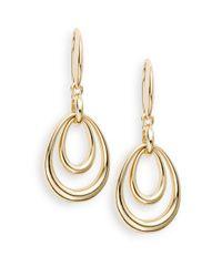 Saks Fifth Avenue - Metallic Double-drop Earrings - Lyst