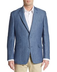 Tommy Hilfiger | Blue Regular-fit Linen Blazer for Men | Lyst