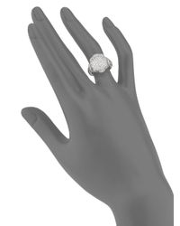 Judith Ripka - Metallic Fleur Pavé White Sapphire & Sterling Silver Ring - Lyst
