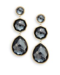 Ippolita - Metallic Rock Candy Crazy 8's Hematite & 18k Yellow Gold Drop Earrings - Lyst