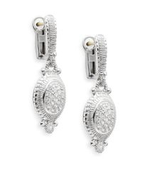 Judith Ripka | Metallic Natalie White Sapphire & Sterling Silver Pavé Oval Drop Earrings | Lyst