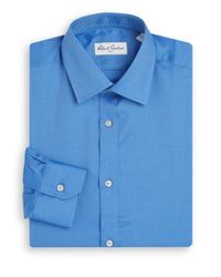 Robert Graham | Blue Regular-fit Chevron Stitched Cotton Dress Shirt for Men | Lyst