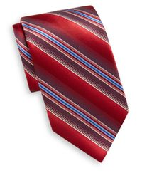 Burma Bibas | Red Shadow Stripe Silk Tie & Gift Box for Men | Lyst