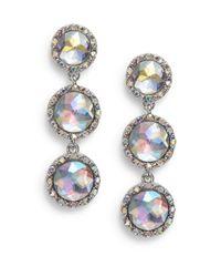 Nine West | Metallic Multifacted Drop Earrings | Lyst