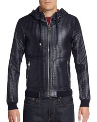 Dolce & Gabbana - Blue Quilted Hooded Nylon Jacket for Men - Lyst