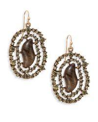 Saks Fifth Avenue | Metallic Webbed Sparkle Earrings | Lyst
