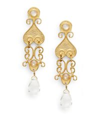 Stephanie Kantis - Metallic Antiquity Clear Quartz Briolette Drop Earrings - Lyst