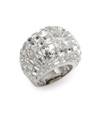 Swarovski | Metallic Trema Crystal Dome Ring | Lyst