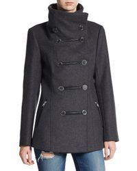 Mackage | Gray Milly Double-breasted Wool-blend Coat | Lyst