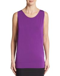 Helmut Lang | Purple Scoop-back Tank | Lyst