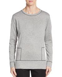 Calvin Klein | Gray Contrast Stitch Sweater | Lyst